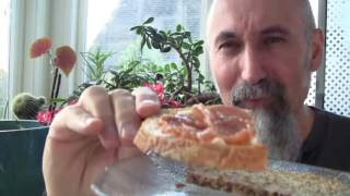 How to Eat Crab Apple Butter  -- ASMR -- Male, Soft-Spoken, Breakfast, Tapping, Eating, Chewing