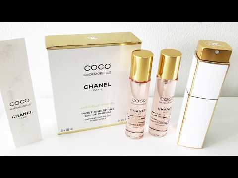 5a5c4c55 UNBOXING CHANEL TWIST AND SPRAY PERFUME (WHITE AND GOLD) - YouTube
