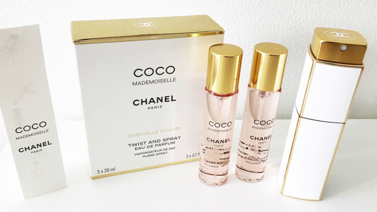 Unboxing Chanel Twist And Spray Perfume White And Gold Youtube