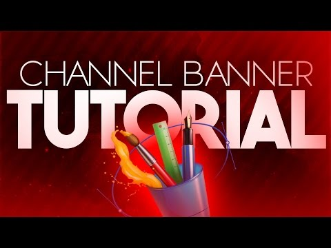 How To Make A YouTube Banner In Photoshop CS6/CC! Channel Art Tutorial! (2017)
