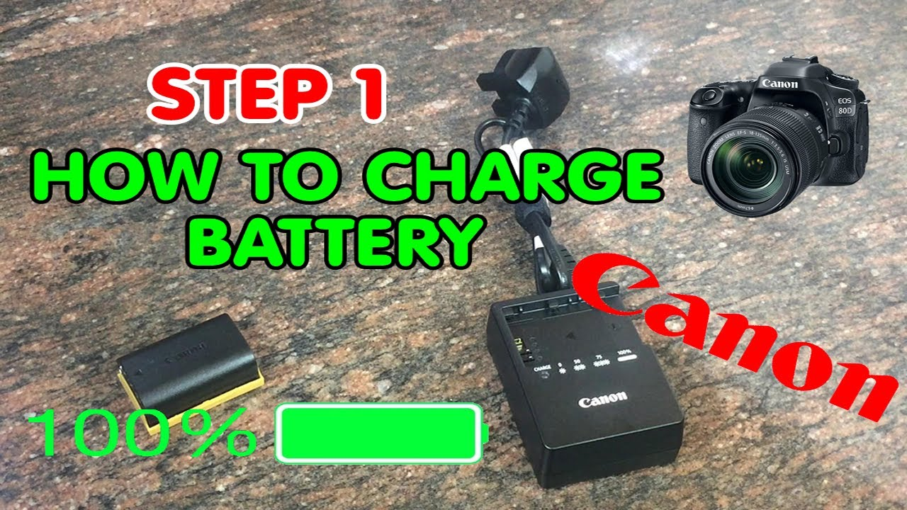 Step 1: How to charge DSLR Camera Battery Canon #canon - YouTube