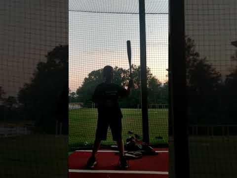 Soft toss work, Caleb Walker
