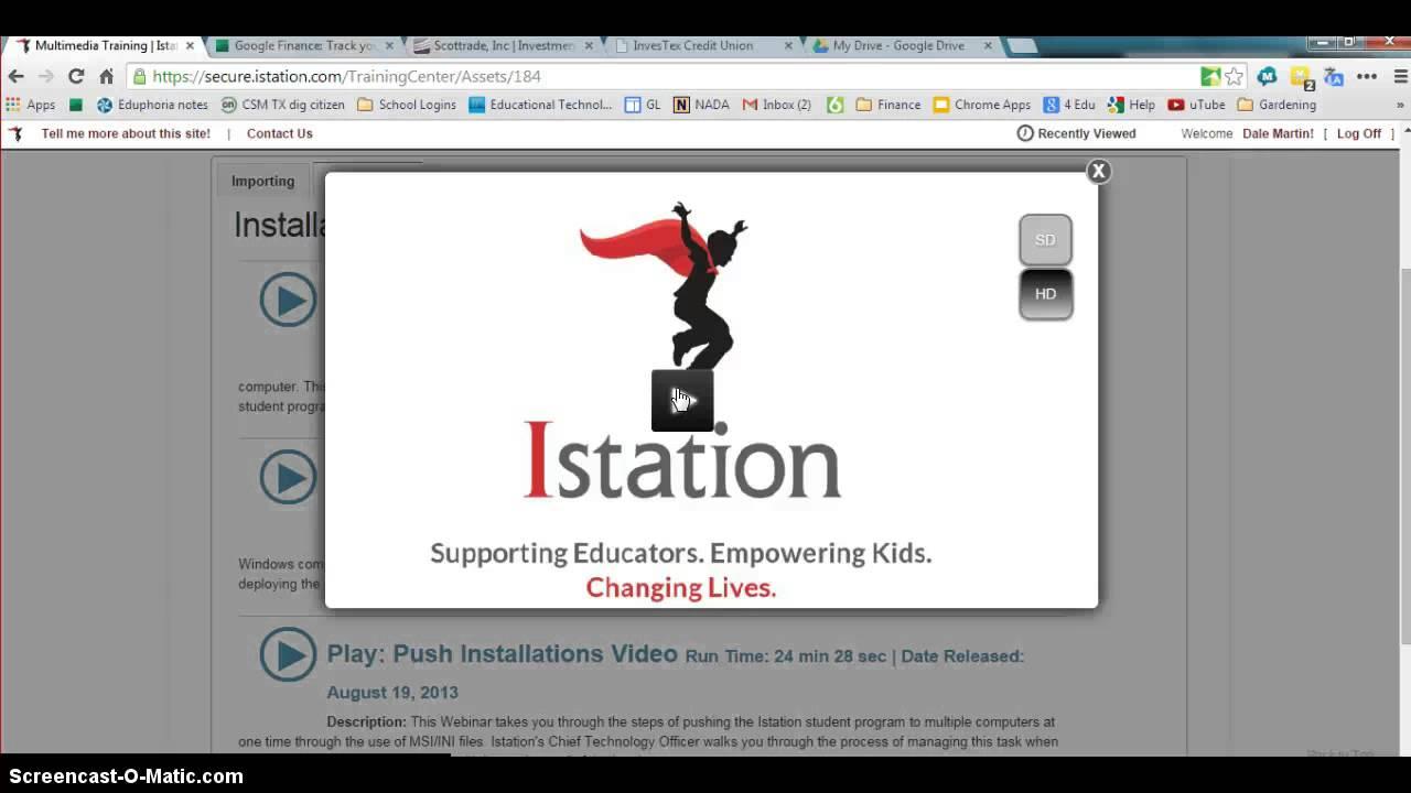 Changing I Station Domain Login