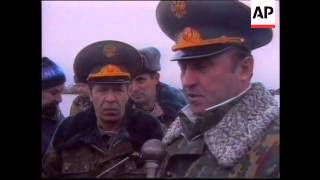 Ossetia - Grachev At Military Operations HQ