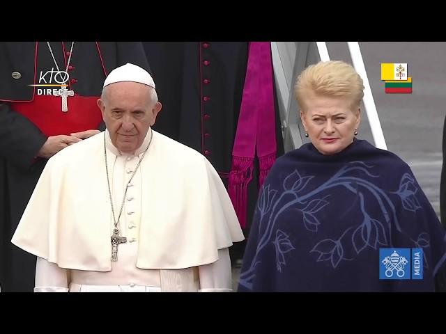 Cérémonie de bienvenue du pape en Lituanie