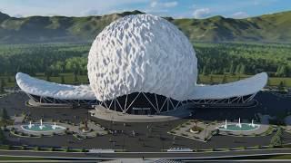 'Хабиб Арена' (Khabib Arena) Концепт проект Спорткомплекса в Дагестане
