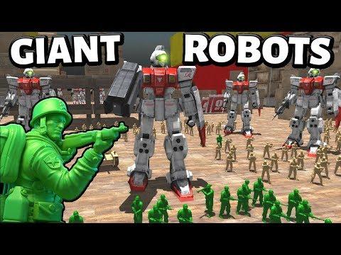 GIANT Gundam Robot Transformers ! - Army Men (AMOW) (ww2 Battle simulator game)