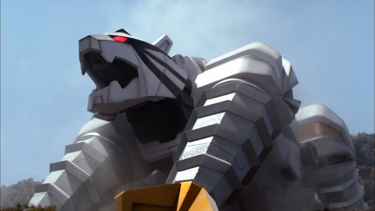 Tiger Zord and Tiger Drill Megazord Debut Fight | Power ...