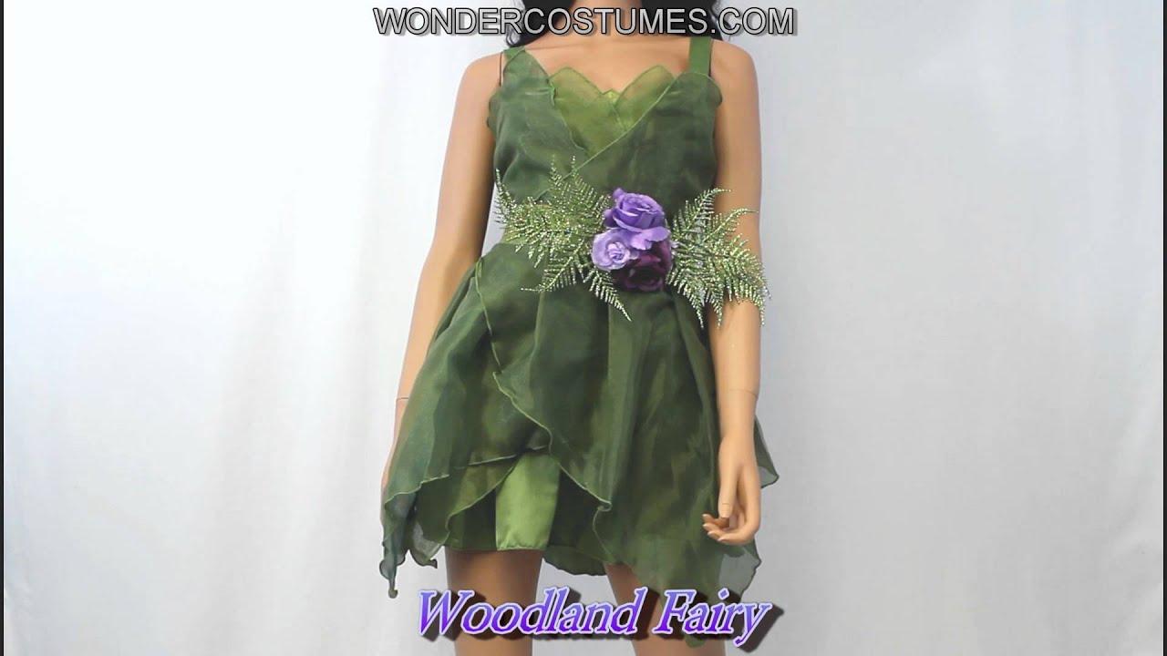 Woodland Fairy Adult Costume - YouTube