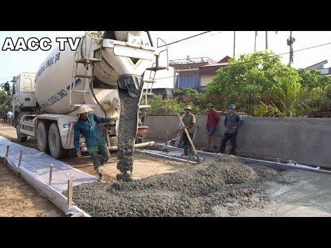 Amazing Modern Technology Techniques - Road Construction Machine Concrete Mixer Trucks