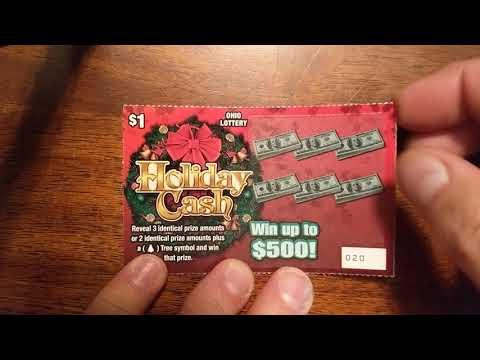OHIO LOTTERY $1 Holiday Cash 🎅☃️🎄😀