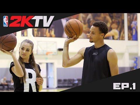 NBA 2KTV S2. Ep. 1 - Steph Curry Shares Shooting Advice & 2K16 Gameplay Tips