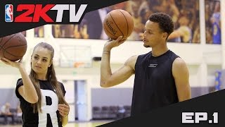 NBA 2KTV S2. Ep. 1 - Steph Curry Shares Shooting Advice & 2K16 Gameplay Tips