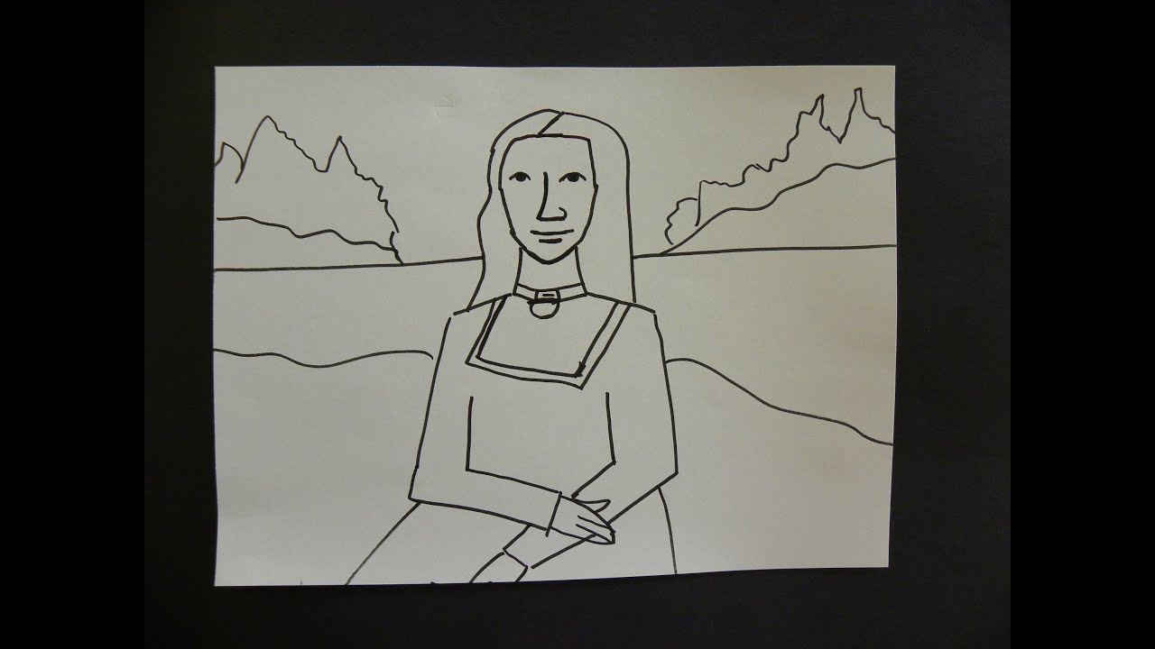 Kids Can Draw: Easy Mona Lisa For Young Kids. - YouTube
