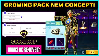 Growing Pack Event New Concept || Bgmi Uc Bonus Removed In Codashop Explained (Hindi)