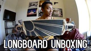 Kracked Skulls Scimitar Longboard Unboxing and Custom Grip! - LongbeardVA