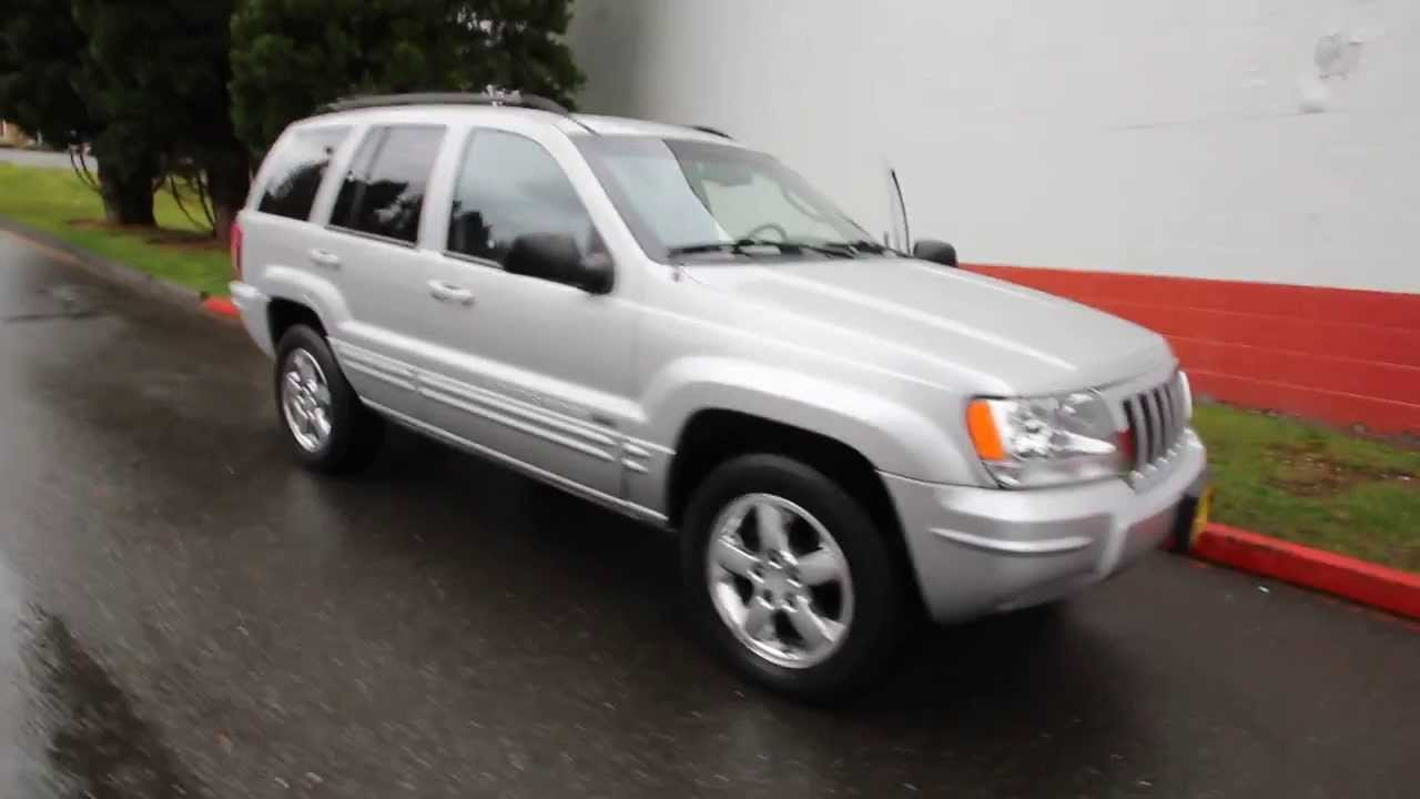 2004 jeep grand cherokee limited 4 7l v8 silver 4c322175 seattle bellevue youtube. Black Bedroom Furniture Sets. Home Design Ideas
