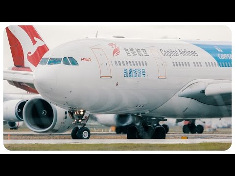 Capital Airlines Airbus A330 Takeoff | Melbourne Airport to Qingdao Airport | JD462