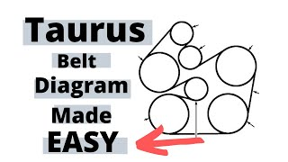 2003 Ford Taurus Belt Diagram Made Simple Youtube