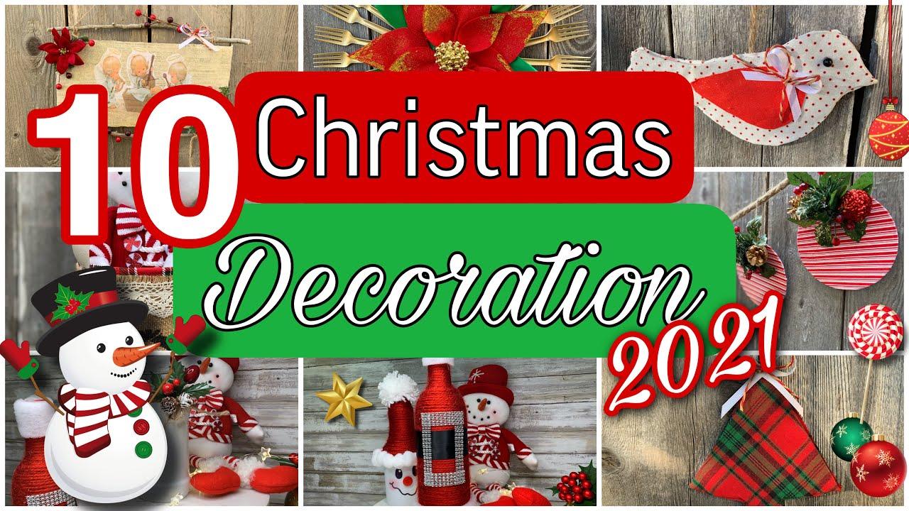 10 DIY christmas decorations 2021🎄IDEAS LINDAS Y PRACTICAS PARA ESTA NAVIDAD/ADORNOS NAVIDEÑOS