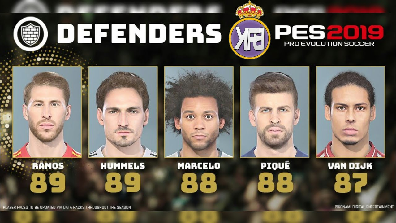 Best Defenders 2019 PES 2019 TOP 10 DEFENDERS 💪   YouTube