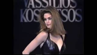 Vassilios Kostetsos Fashion Show Guest Star Cindy Crawford In Athens Part 1