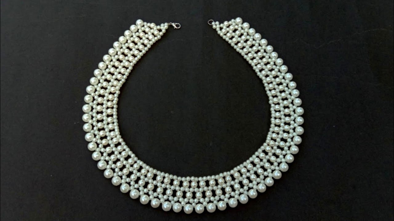 How To Make//A Gorgeous Pearl Necklace//Bridal Necklace// Useful & Easy