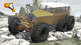 Vintage Monster Truck Trial Race Beamng Drive
