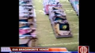 América Noticias - 271013 - Eva Bracamonte vende manualidades que elaboró en prisión