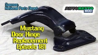 1967 1968 Ford Mustang Hinge replacement How to Episode 181 Autorestomod