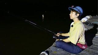 仕事帰りに夜釣りに来てしまいました。疲れた時はコレにかぎる【釣り車中泊&N-VAN女子旅】