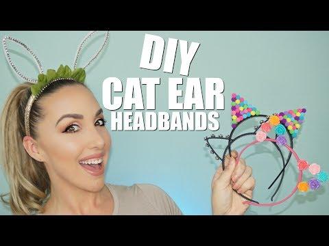 EASY DIY CAT EAR HEADBANDS | ARIANA GRANDE HEADBAND | JESSICAFITBEAUTY