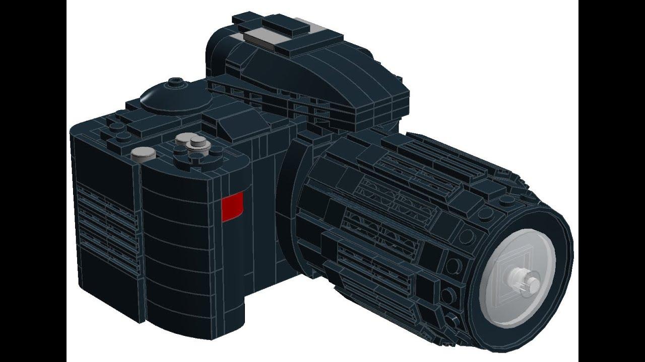 Lego Nikon 3100 DSLR Instructions - YouTube
