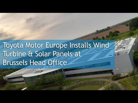 Toyota Motor Europe Installs Wind Turbine & Solar Panels at Brussels Head Office