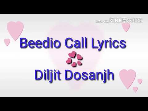 beedio-call---lyric-video-||-diljit-dosanjh-||-lyrics-ring