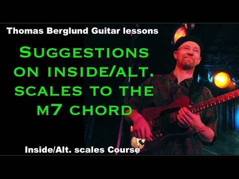 Inside and alternative soloing scales to the m7 chords - Guitar lessons