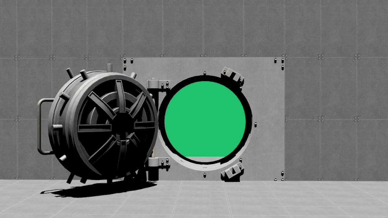 bank vault green screen chroma key youtube. Black Bedroom Furniture Sets. Home Design Ideas