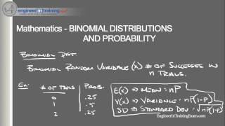 Binomial Distribution and Probability - Fundamentals of Engineering FE EIT Exam Review