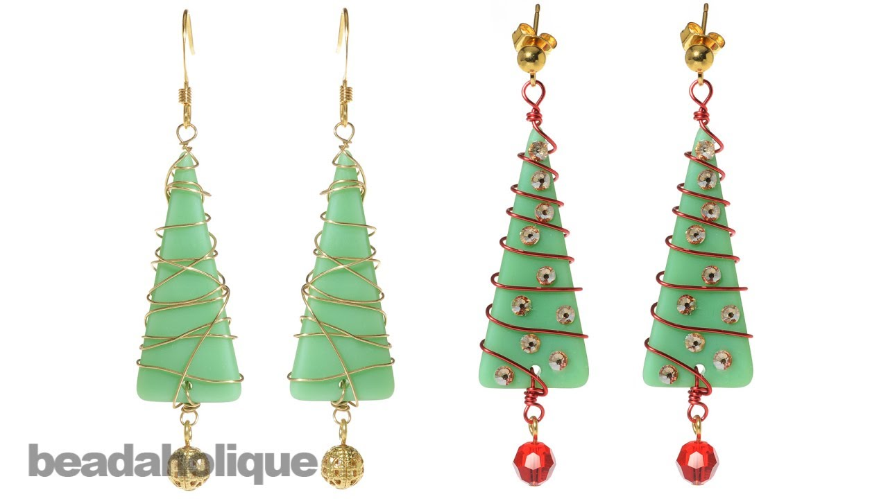 How to Make a Christmas Tree by Wire Wrapping Sea Glass - YouTube