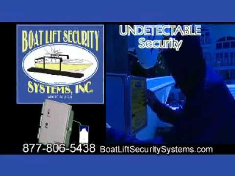 Boat Lift Security Systems - This marine security system isn't detectable on the lift !