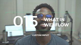 What In Webflow 015 - 😲 Custom Input