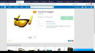 New Overdrive Goggles And Dynamo's Bandolier | Roblox Possible Event?
