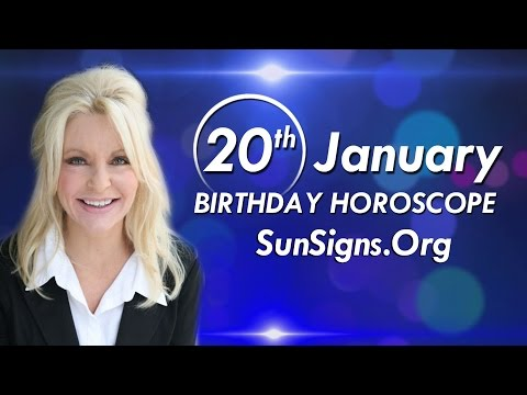Birthday January 20th Horoscope Personality Zodiac Sign Aquarius Astrology
