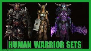 Human Warrior Transmog | 5 Creative WoW Sets [Wod 7.0.3]