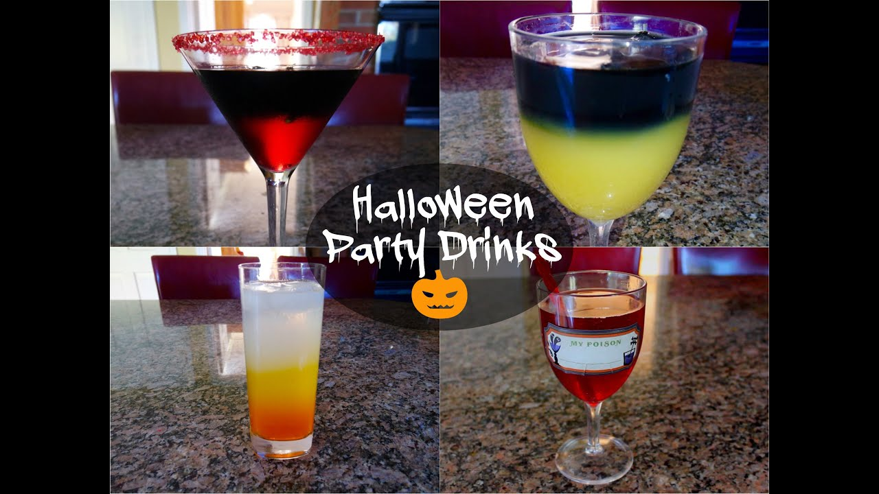 halloween party drinks alcoholic non alcoholic youtube - Halloween Themed Alcoholic Shots