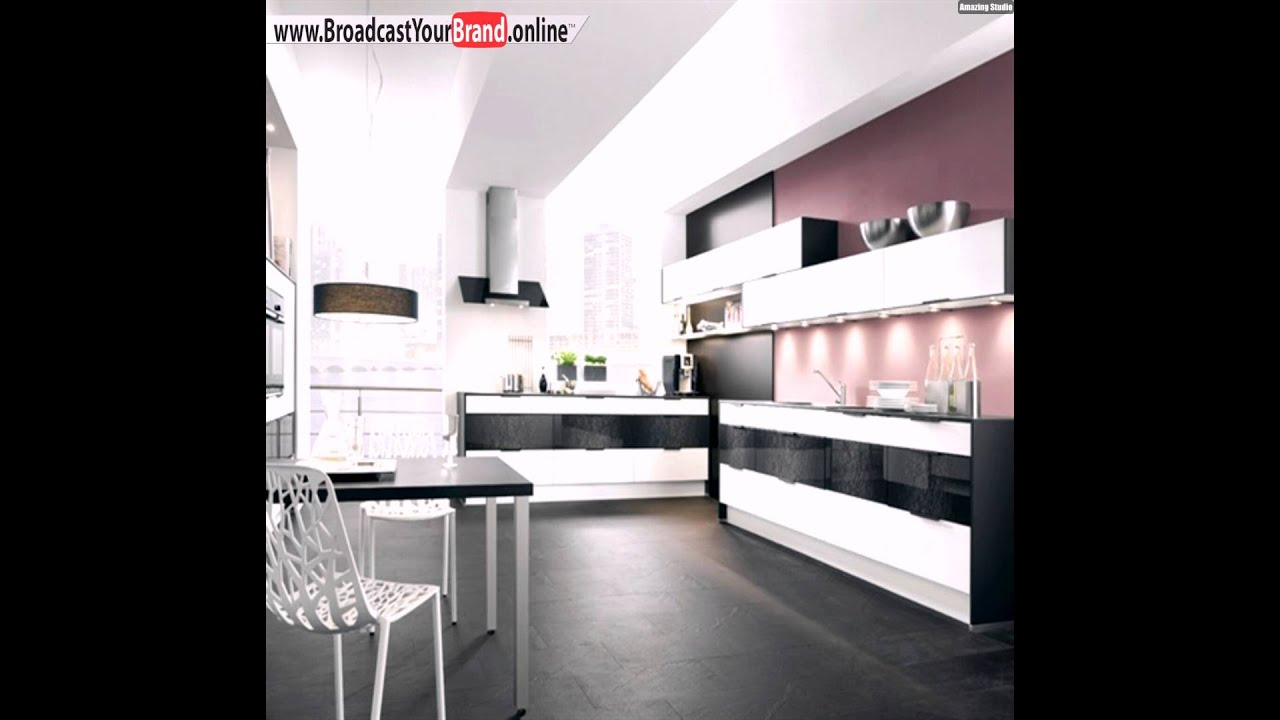 schwarz wei e hochglanz k che youtube. Black Bedroom Furniture Sets. Home Design Ideas