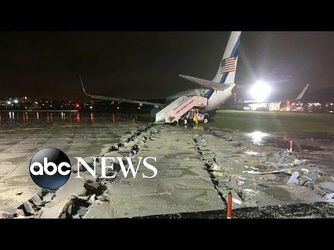 Mike Pence Plane Skids Off Runway at LaGuardia Airport