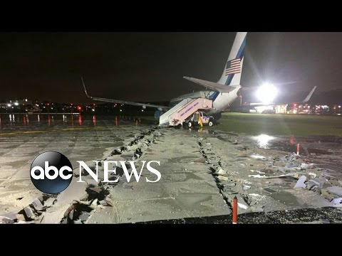 Thumbnail: Mike Pence Plane Skids Off Runway at LaGuardia Airport