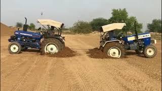 Swaraj 744 vs Faramtrac 60 Tractor Tochan New Punjab Tractor Tochan 2018