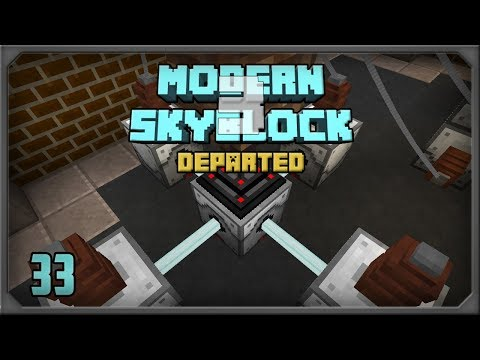 Modern Skyblock 3 EP33 Industrial Foregoing Laser Drill + Stonework Factory